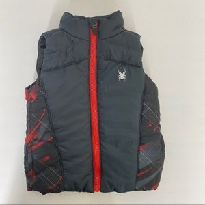 Infant Toddler Boys Black Red Spyder Puffer Vest